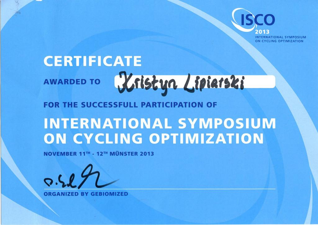Certyfikat ISCO